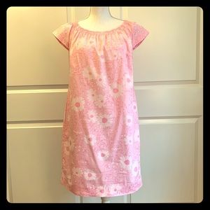 Lilly Pulitzer pink and white shift dress